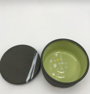 Lidded Jar – Green Interior