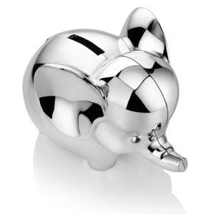 Rhodium Plate Elephant Money Bank