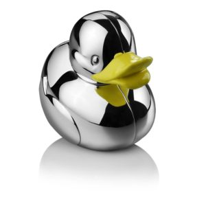 Silver Plated Duck Money Bank