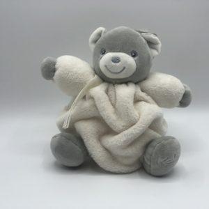 CHUBBY Teddy Bear Cream & Grey- Small 18cm