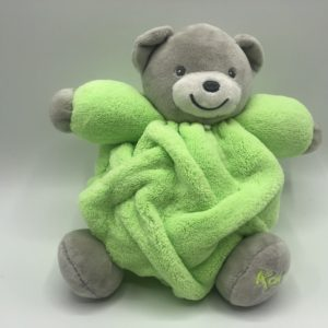 CHUBBY Teddy Bear Green & Grey- Small 18cm