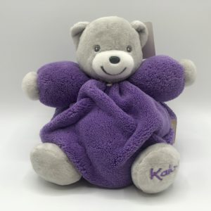 CHUBBY Teddy Bear Purple & Grey- Small 18cm
