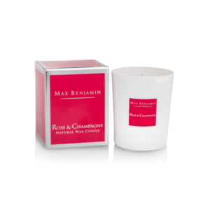 ROSE AND CHAMPAGNE LUXURY NATURAL CANDLE
