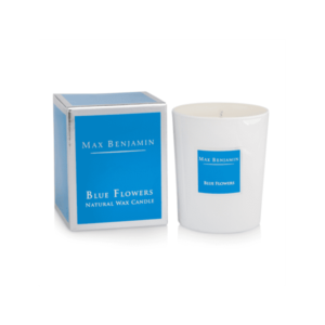 BLUE FLOWERS LUXURY NATURAL CANDLE