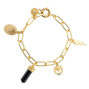Gold Plated Bracelet with Charms