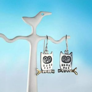 Alan Ardiff Little Owl Earrings