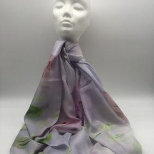 Blue Enya Silk Scarf