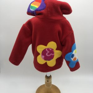 Wacky Clothing  Fleece – Red with Flowers