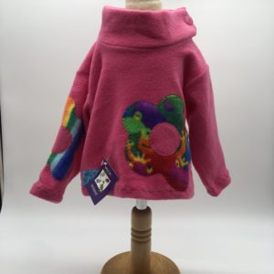 Wacky Clothing  Fleece Pink with Flower pattern