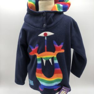 Wacky Clothing  Fleece Navy with Monster Pattern