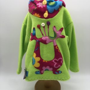 Wacky Clothing  Fleece Green with Monster Pattern