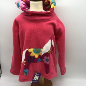 Wacky Clothing  Fleece Pink with Horse Pattern