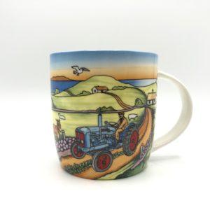 Blue Open Top Tractor