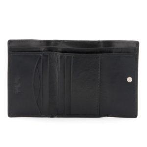 Italian Leather Flap Over Clip Top Purse