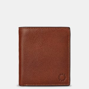 Two Fold Leather Wallet with Coin Pocket