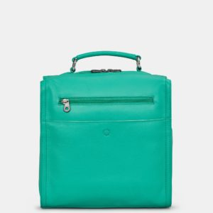 Jade Green Grayson Leather Backpack