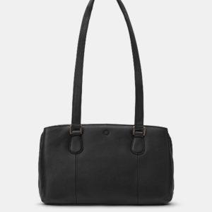 Black Ealing Leather Shoulder Bag