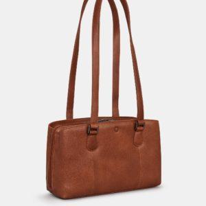 Brown Ealing Leather Shoulder Bag