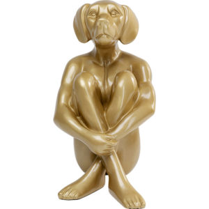 Deco Object Sitting Dog Gold