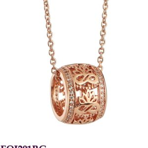Rose Gold Plated Pendant With Clear Stones