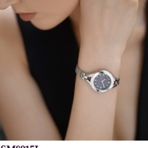 Ladies Meah Watch With Black Face